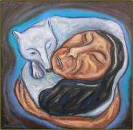 Atalianguak, som blev gift med en ræv i menneskeskikkelse og sov en hel vinter