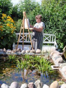 Der arbejdes i haven