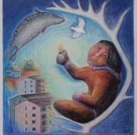Plakat til konferenceprojektet om grønlandske børns vilkår